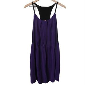 Eight Sixty Purple and Black Color Block Dress L